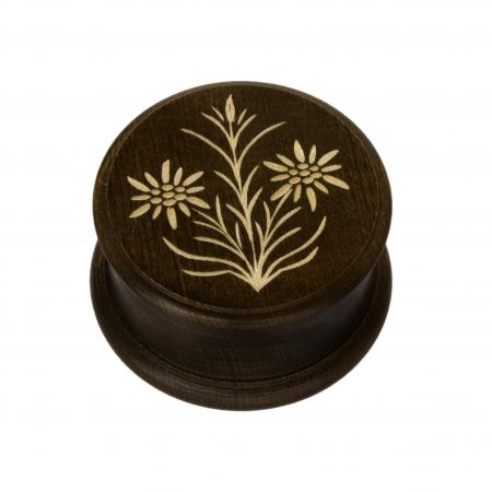 No.100-26G Carved edelweiss wood paperweight